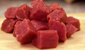 raw steak cube