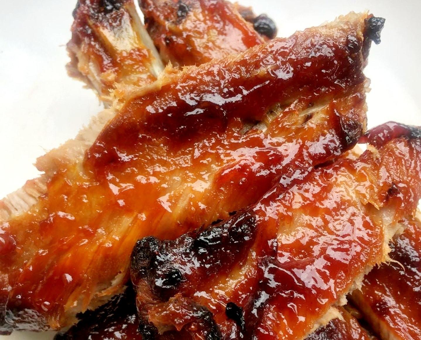Air fryer BBQ pork ribs
