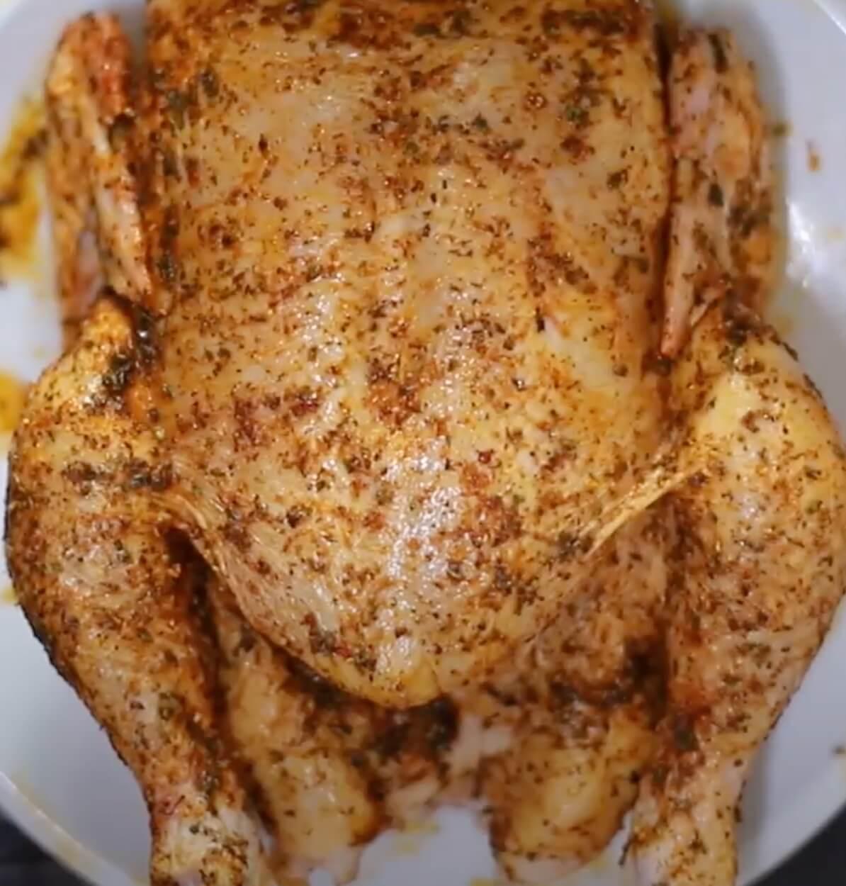 seasoned whole chicken