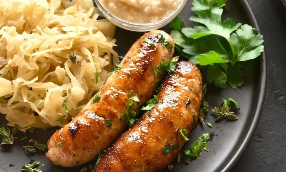 Air fryer Pork Sausages
